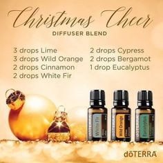 Bergamot Essential Oil Uses with DIY, Diffuser and Food Recipes - doTERRA Essential Oils Christmas Cheer Diffuser BlenddoTERRA Essential Oils Christmas Cheer Diffuser Blend Bergamot Essential Oil Uses, Wild Orange Essential Oil, Cypress Essential Oil, Best Essential Oils, Essential Oil Blends, Doterra Essential Oils, Essential Oil Diffuser, Doterra Diffuser, Doterra Blends