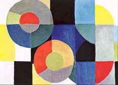 Sonia Delaunay Terk - Composition . 1954
