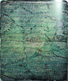 2.- «Plano del Corregimiento del Valle de Guatemala, con sus ejidos y pueblos tributarios.» (s. XVII)  Fuente: Asociación de Amigos del País, Enciclopedia General de Guatemala (1998) Tomo III.