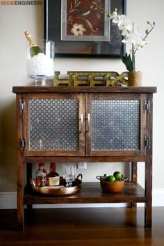 Make your home more elegant instantly with these 12 DIY upcycling ideasMake your home with these 12 DIY upcycling ideas for a Nobel Prize - 27 Elegant Diy Bar Cabinet ConceptBar cabinet Diy Bar Cart, Bar Cart Decor, Cabinet Furniture, Bar Furniture, Classic Furniture, Cheap Furniture, Kitchen Furniture, Furniture Stores, Furniture Websites
