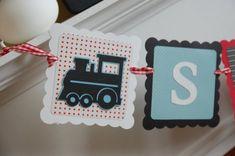 Train Name Banner, Choo Choo, Train Birthday, Train Baby Shower, Train Party, Train 1st Birthday