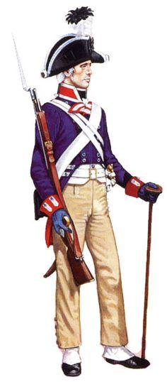 Униформа рядового гвардейской стрелковой части, 1806 год