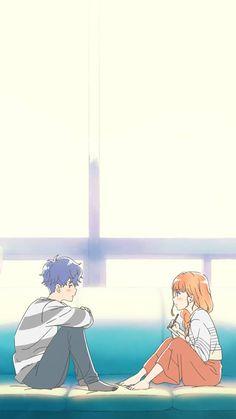 A day before us Anime Korea, Korean Anime, Anime Couples Manga, Cute Anime Couples, Anime Girls, I Love Anime, Awesome Anime, Cute Couple Art, Fanart