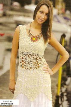 Crochet.es.un.arte!: Crochet - Chalequito y Vestido