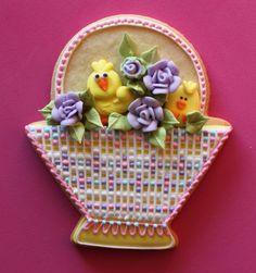 TUTORIAL: Needlepoint Easter Basket Cookie Tutorial by Julia M. Usher