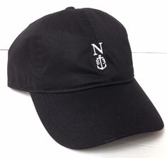 New Women NAUTICA 83 ANCHOR HAT Black&White Relaxed Fit Ball Cap Letter N Ladies #Nautica #BaseballCap #Everyday