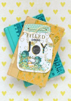 Handmade Mason Jar Shaker Card | Make it yourself from scrapbook paper and a page protector. pitterandglink.com
