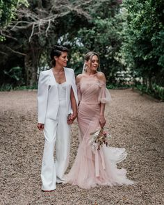 "Loverly®️ Wedding Inspiration on Instagram: ""The dress, the jumpsuit, the pampas grass...is this #goals or what?! 😍 Tag a bride-to-be that needs to see this inspo 🤩⁣ .⁣ .⁣ .⁣ Follow 👉…"""