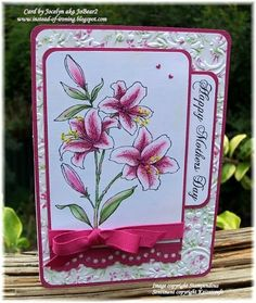 Stampendous Star Lilies   Nellie Snellen Multiframes and border dies!