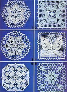 Crochet Motifs, Crochet Borders, Crochet Diagram, Crochet Squares, Filet Crochet, Crochet Doilies, Crochet Flowers, Crochet Stitches, Crochet Patterns