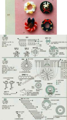 Christmas Candles, Christmas Tree Decorations, Christmas Wreaths, Christmas Crafts, Crochet Christmas Ornaments, Christmas Crochet Patterns, Book Crafts, Diy And Crafts, Crochet Diagram