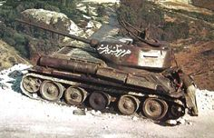 Syrian T-34/85 abandoned on Golan Heights after Six Day War, June 1967