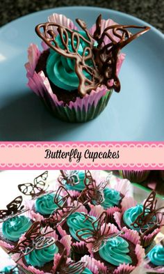 Sweet and girly butterfly cupcakes