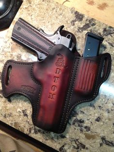 Don't Tread On Me - Gun Holster Giveaway 1911 Leather Holster, 1911 Holster, Custom Leather Holsters, Gun Holster, Rifle, Open Carry, Leather Tooling Patterns, Tandy Leather, Edc