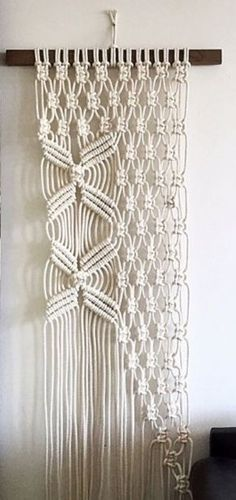 Fantastic Home Decorative Modern Macrame Wall Hanging (Knotted Rope, Wall Art #Handmade