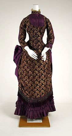 Dress  Date: 1882–83 Culture: American Medium: silk  Metropolitan Museum of Art  Accession Number: C.I.41.38.1a, b