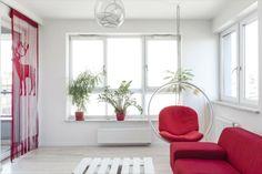 Stylowe mieszkanie we Wrocławiu, mieszkanie do wynajęcia Wrocław, mieszkanie Stare Miasto Wrocław / red living room, stylish, amazing flat for singiel,