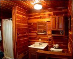 126 Best Log Cabins Fences Images Log Home Rustic Bathrooms