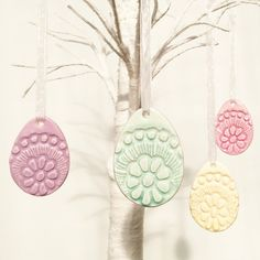 Easter gifts for kids personalised easter bunny name tags easter easter eggs set of 4 decorations easter egg decorations set of 4 hanging pastel ceramic pink aqua lilac lemon tree decoration negle Image collections