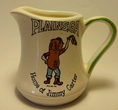 Home of Jimmy Carter Plains Georgia Coffee Tea Mug Cup J.R. Legg 1976 in Collectibles, Historical Memorabilia, Political | eBay