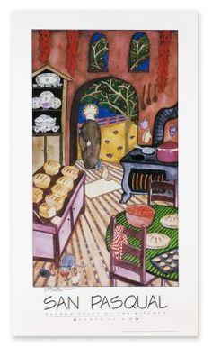 San Pasqual Print for Kitchen - Inspired by Santa Fe: San Pasqual at Sunrise