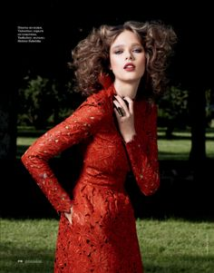 Beegee Margenyte by Marianna Sanvito for Elle Russia November 2012