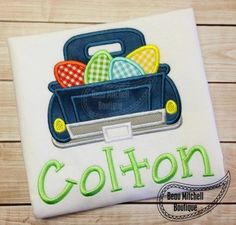 Boys Easter t-shirt with Pickup Truck filled by BoutiqueOnTheBlvd
