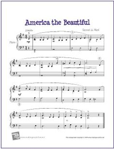 America the Beautiful | Free Sheet Music for Piano