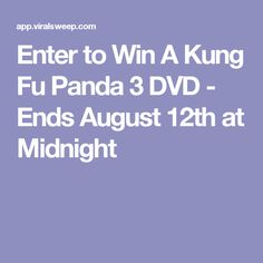 Enter to Win A Kung Fu Panda 3 DVD - Ends August 12th at Midnight