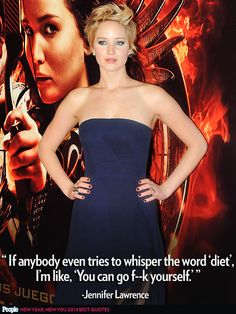 JENNIFER LAWRENCE  photo | Jennifer Lawrence Love her mentality, she's very fit and healthy and does it without unhealthy diets
