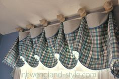 VALANCES - newengland-style.com - traditional - window treatments - boston - Michelle Jamieson Interiors / New England Style
