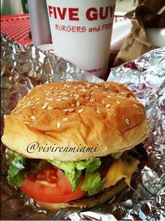 Miami blog!!!! Five Guys!!!! #miami #burger