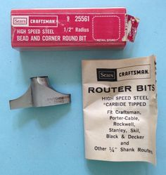 NOS Vintage Sears Craftsman Router Bit by VintageClothingDream