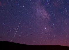 """We asked """"What's your favorite thing that you've ever seen in the night sky?"""" Some of our Twitter followers (@babybeachblues, @heretic23, and @Interstate_85) described seeing a meteor. This photograph of a 2009 Perseid meteor was taken by Kevin Clifford, AP.  The 2012 Perseids are best seen between Aug 10 and 13, around or after midnight."""