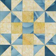 "Free Quilt Block Patterns, F through L: Grandma's Favorite Quilt Block Pattern - 10""  Another Grandma's favourite design."