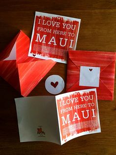 Items similar to Valentine Set - Maui Travel greeting card - Watercolor greeting card - Valentines Day card envelope heart stickers printable on Etsy Valentine Greeting Cards, Valentine Day Gifts, Valentines, Etsy Handmade, Handmade Gifts, Watercolor Typography, Maui Travel, Card Envelopes, Chalkboard Art