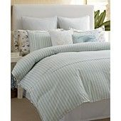 Bedding for my bed. Tommy Bahama Home, Surfside Stripe Comforter Set. .....So Classic. Love it.