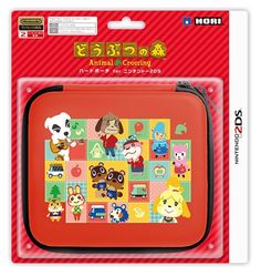 HORI Animal Crossing Hard Pouch for Nintendo 2DS Game Cover Case from Japan F/S #HORI
