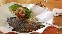 "Recipe courtesy of Chef Bud Gruninger as seen on episode ""Spiny Dogfish"", Season6 Pico De Gallo: 1Large Tomato - small dice 1Jalapeno - small di"