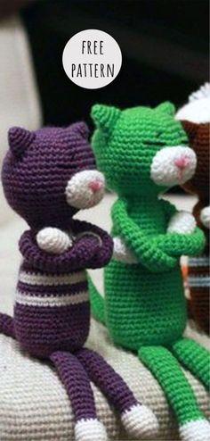 Mesmerizing Crochet an Amigurumi Rabbit Ideas. Lovely Crochet an Amigurumi Rabbit Ideas. Crochet Cat Toys, Crochet Cat Pattern, Crochet Dolls Free Patterns, Bag Crochet, Crochet Slippers, Cute Crochet, Crochet Baby, Knitting Patterns, Crochet Bikini