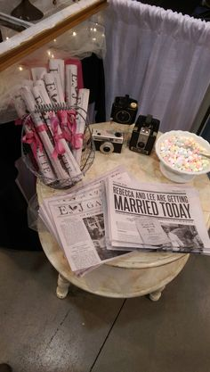 Your wedding is headline news! Don't print a boring ole wedding program, print a newspaper for your guests!