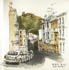 Málaga, calle Postigos | by Luis_Ruiz