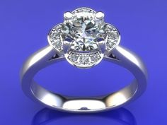 JEWELRY ENGAGEMENT RING STL FILE FOR DOWNLOAD AND PRINT- CC8 | 3D Print Model