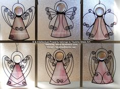Angels - Pink Stained Glass https://www.facebook.com/groups/TayamaCrafts/