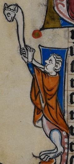 Detail from medieval manuscript, British Library Stowe MS 17 'The Maastricht Hours', f192v