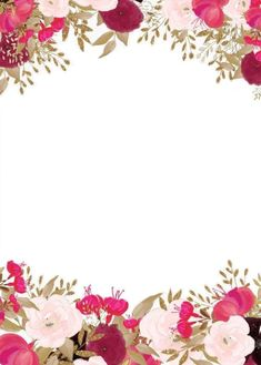 Watercolor Watercolor Watercolor Deco Elements Floral Motifs Flowers Leaves Botanical Inspiration In Flower Invitation, Wedding Invitation Templates, Wedding Invitations, Flower Background Wallpaper, Flower Backgrounds, Birthday Frames, Scrapbooking, Ornaments Design, Paper Frames