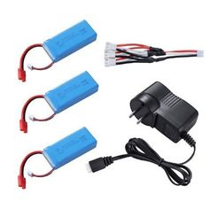 Feifan 3PCS 2S 7.4V 2000mah Battery Banana Plug for Drone Syma X8C X8W X8G RC Quadcopter with AC Charger and 3in1 Cable >>> Read more  at the image link.