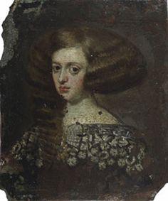 Retrato de la reina Mariana de Austria  Escuela Española Ca. 1650 Fundación Lázaro Galdiano