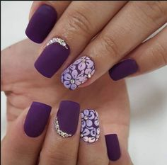 purple nail design
