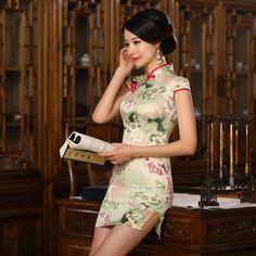 2017 Cheongsam Dress Chinese Traditional Dress New Summer Fashion Slim Short Cheongsam Tang Dreamspell Factory Direct Printing